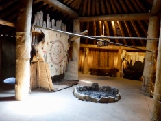 Interior of earth lodge